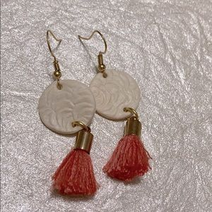 18k gold plated Polymer clay earrings